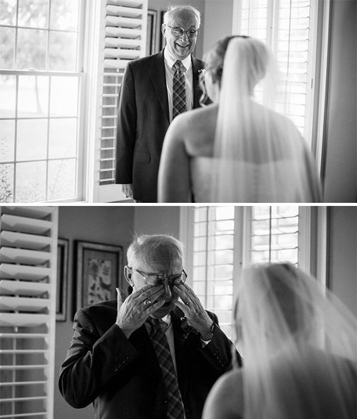 father of bride reactions