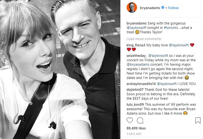 Bryan Adams and Taylor Swift
