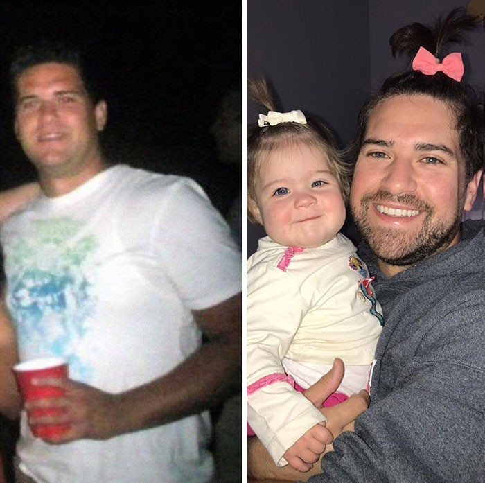 photos of parents before and after having kids