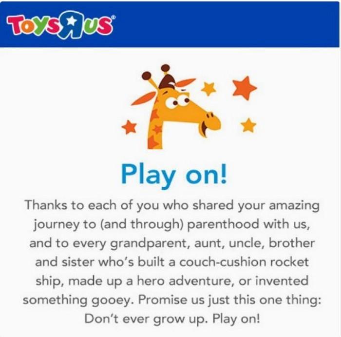 Toys R Us closing