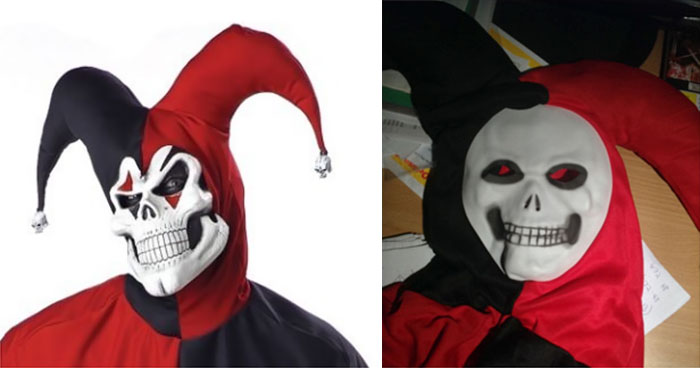 a scary Halloween mask that is not as advertised