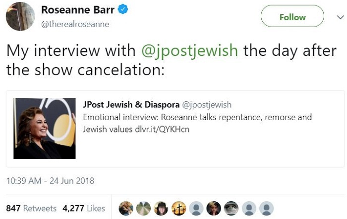 Roseanne Barr twitter interview