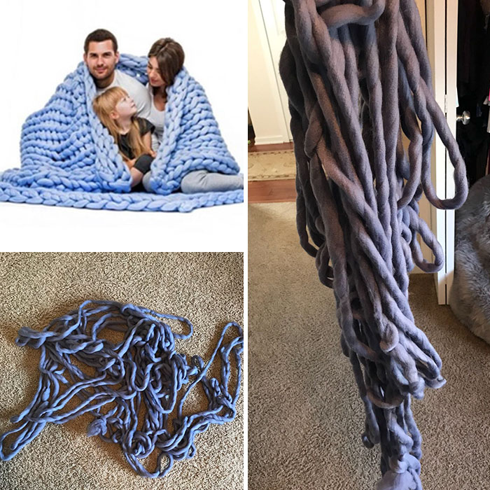 a wool blanket with from just dtrings