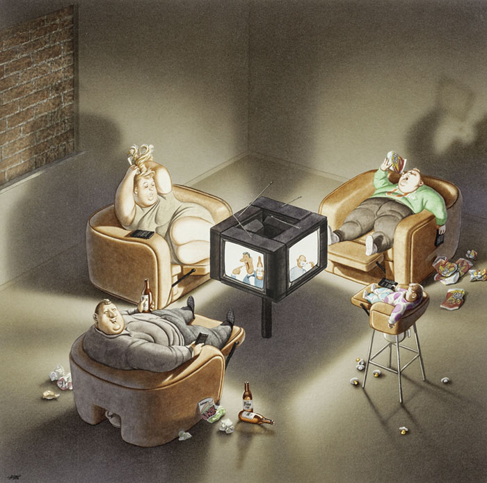 Gerhard Haderer satirical drawings