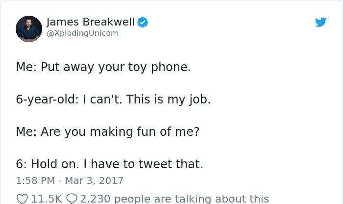 James Breakwell tweets