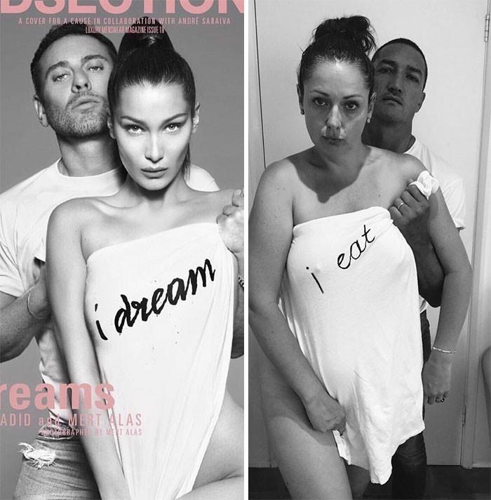 Celeste Barber imitating celeb Instagram pic