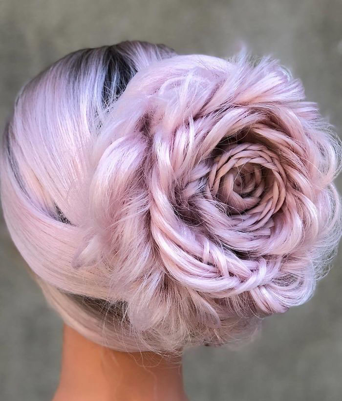 Braided roses hair style by Alison Valsamis
