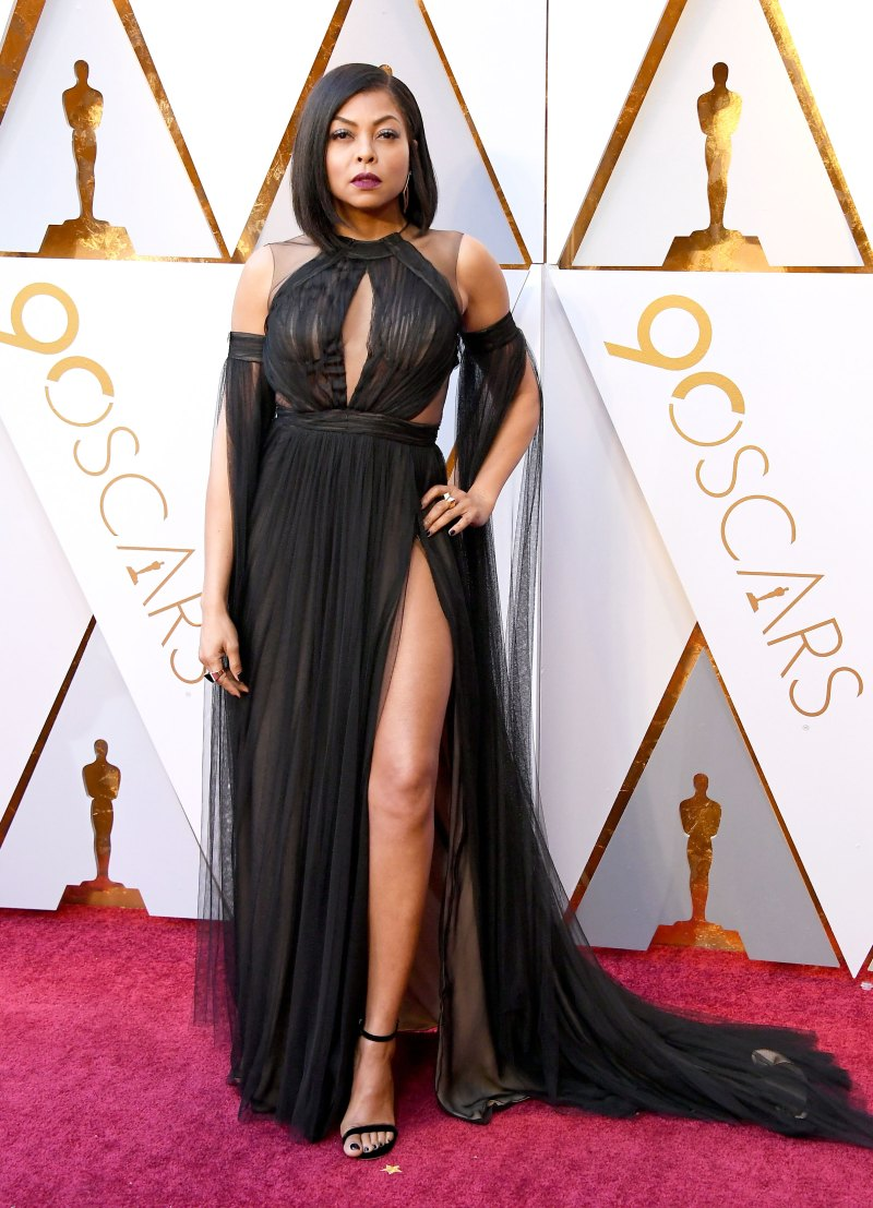 Taraji P. Henson In a black custom Vera Wang gown