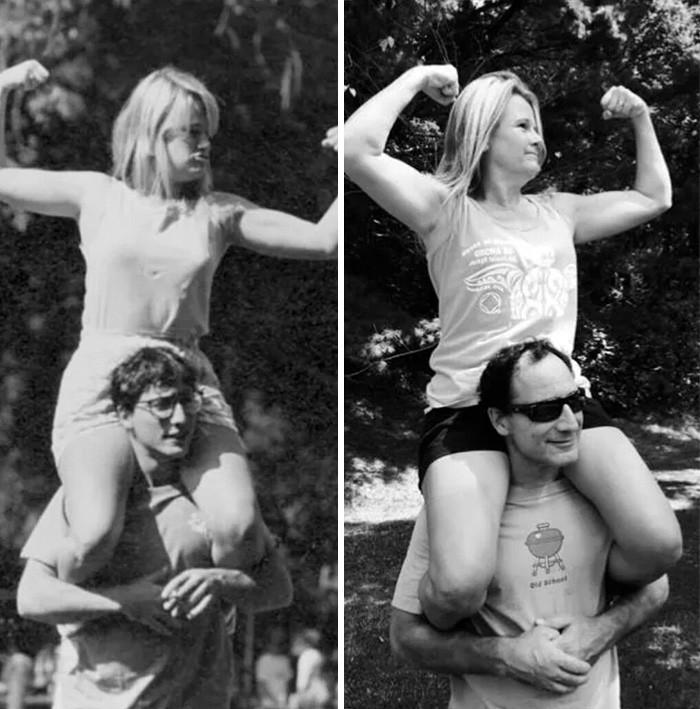 recreated family photos
