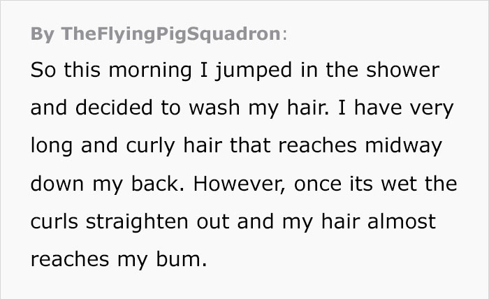 Funny woman in the shower story