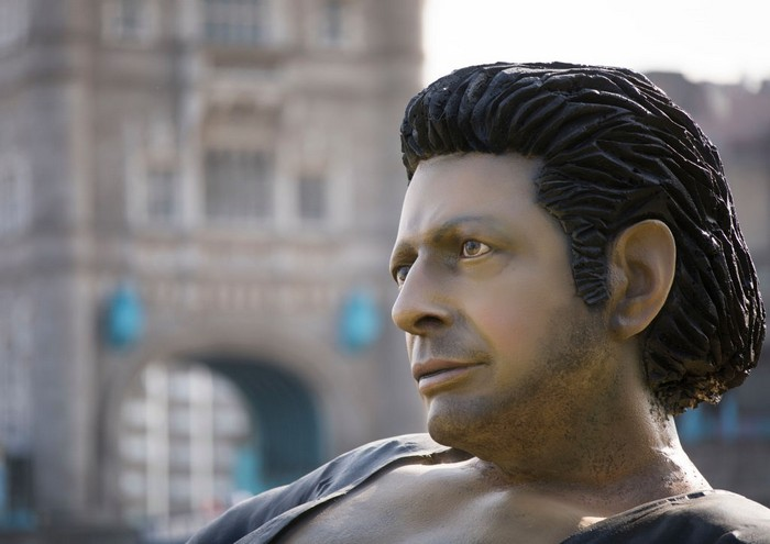 Giant Jeff Goldblum Statue in London