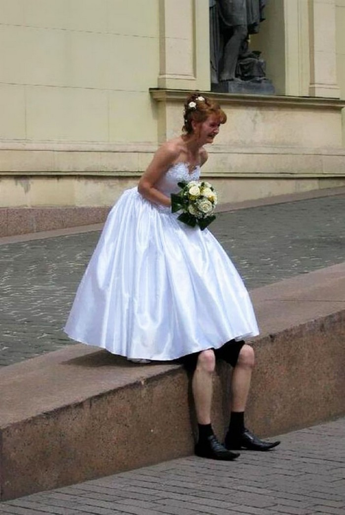 30 Funniest and Weirdest Russian Wedding Photos