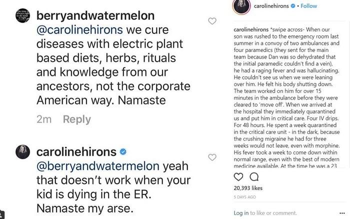 Kat Von D's anti vaxx announcement