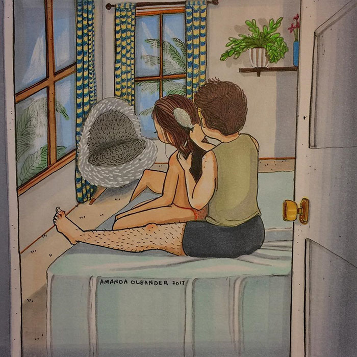 Relatable Relationship Illustrations by Amanda Oleander