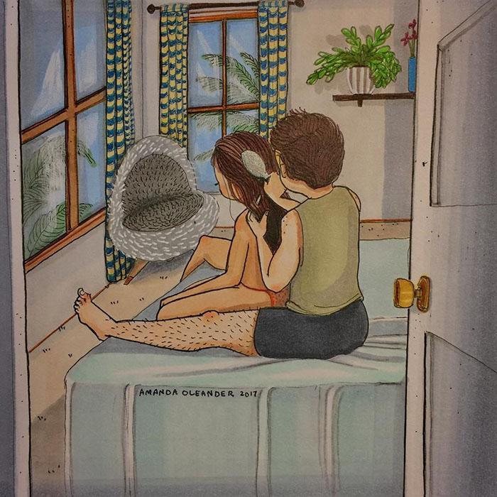 Relatable Relationship Illustrations by Amanda Oleander