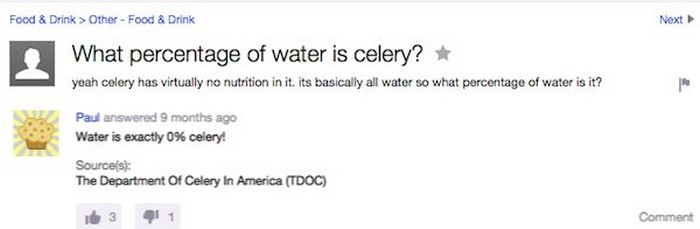 Funniest Yahoo answers questions
