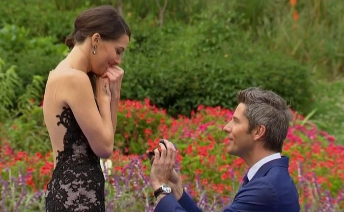 Arie Luyendyk Jr. proposing to Becca Kufrin