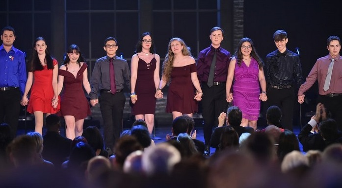 parkland students singing at the Tony awards
