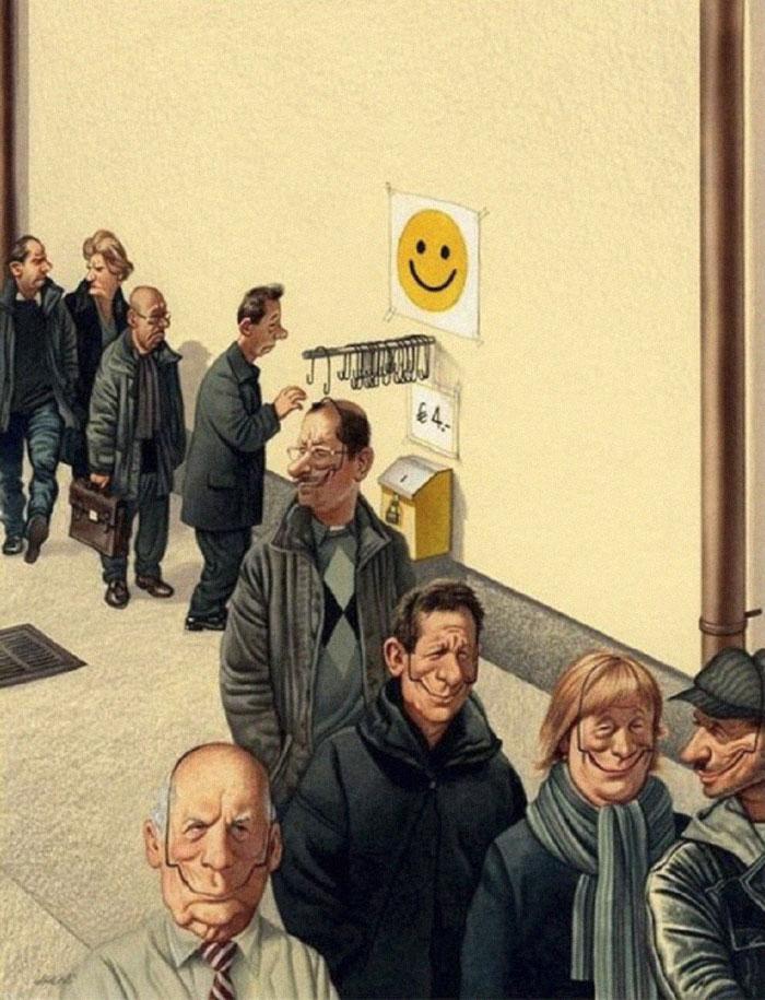 Gerhard Haderer satirical drawings