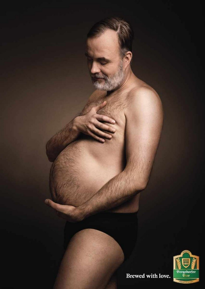 beer belly maternity photos