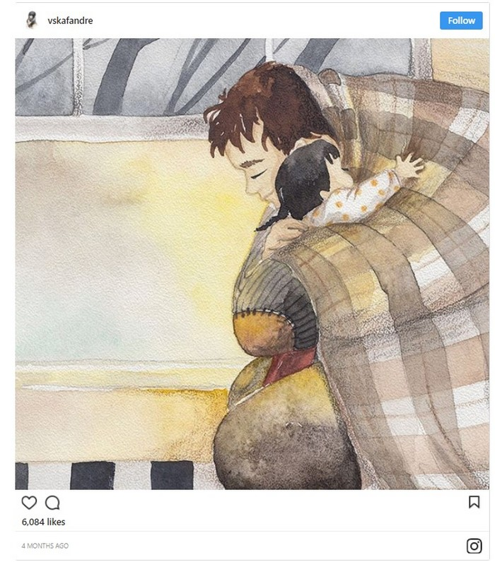 Father daughter illustrations by Soosh