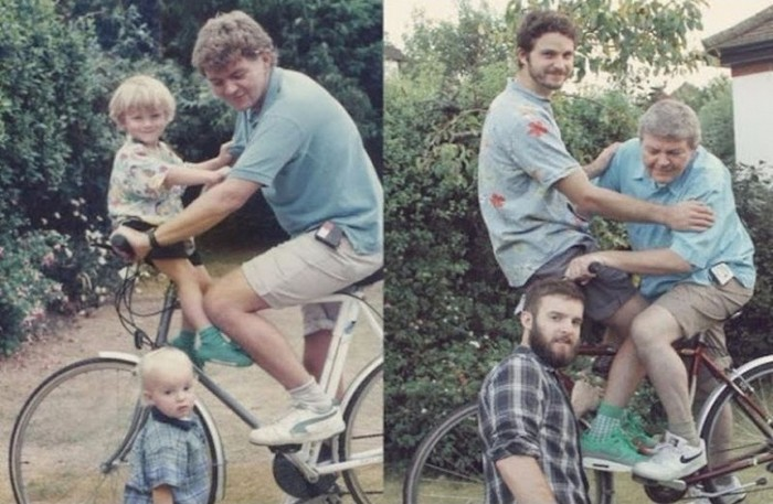 recreated family photos