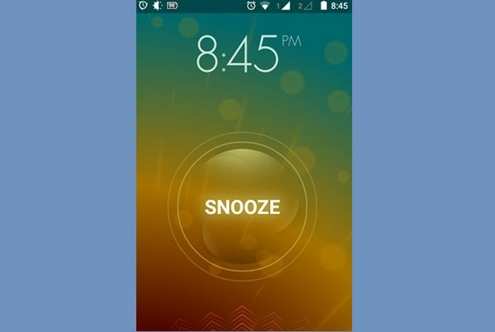 A screenshot of a phone alarm going off