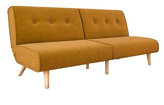 Novogratz Palm Springs Convertible Sofa Sleeper in Rich Linen