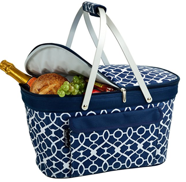 Picnic at Ascot Large Family Size Collapsible Picnic Basket