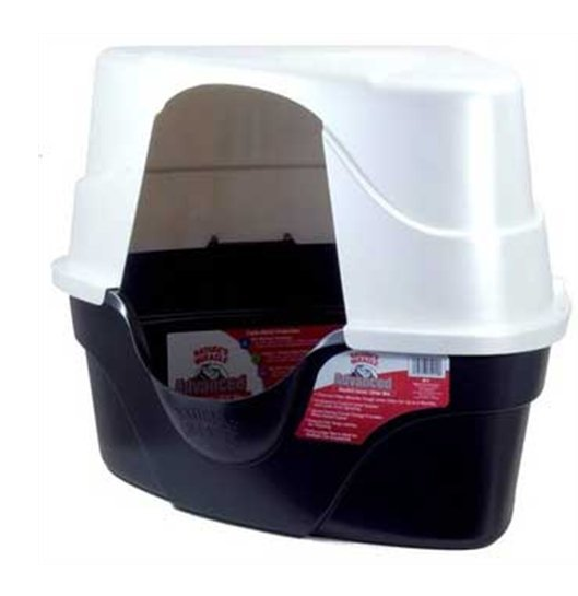 Nature's Miracle Advanced Corner Hooded Cat Litter Box